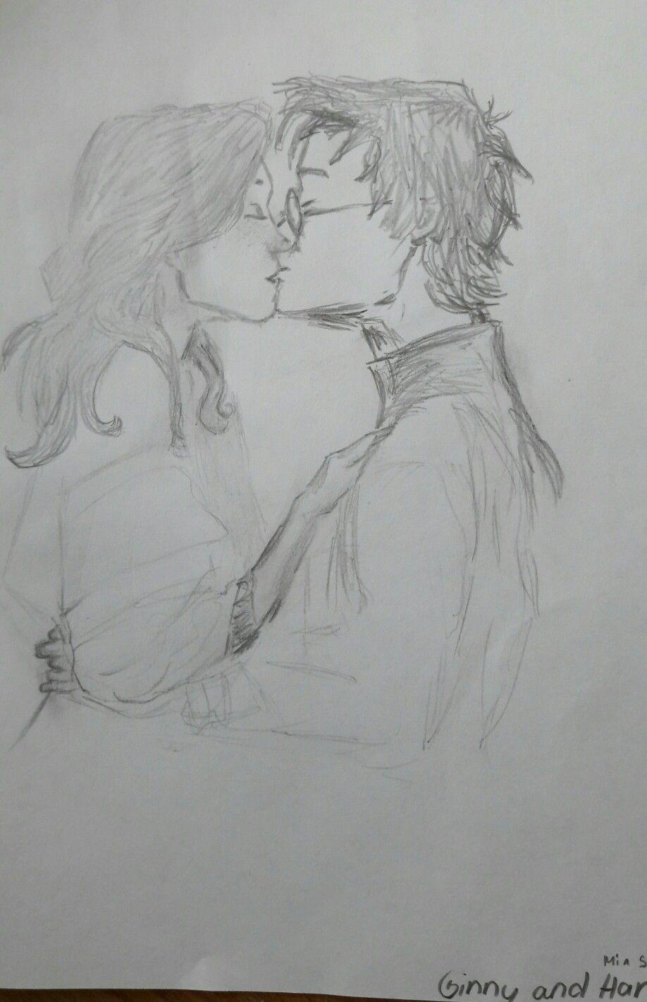 My art harry ginny harrypotter sketch pencils handmade