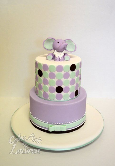 Baby Elephant Cake Decoration : Baby Elephant Baby Shower Cake - by CakeArtByLauren ...