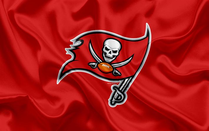 Descargar Fondos De Pantalla Bucaneros De Tampa Bay El Futbol Americano Logotipo Emblema La Nfl La Liga Nacional De Futbol De Tampa Florida Estados Unid Bucaneros De Tampa Bay Nfl Liga