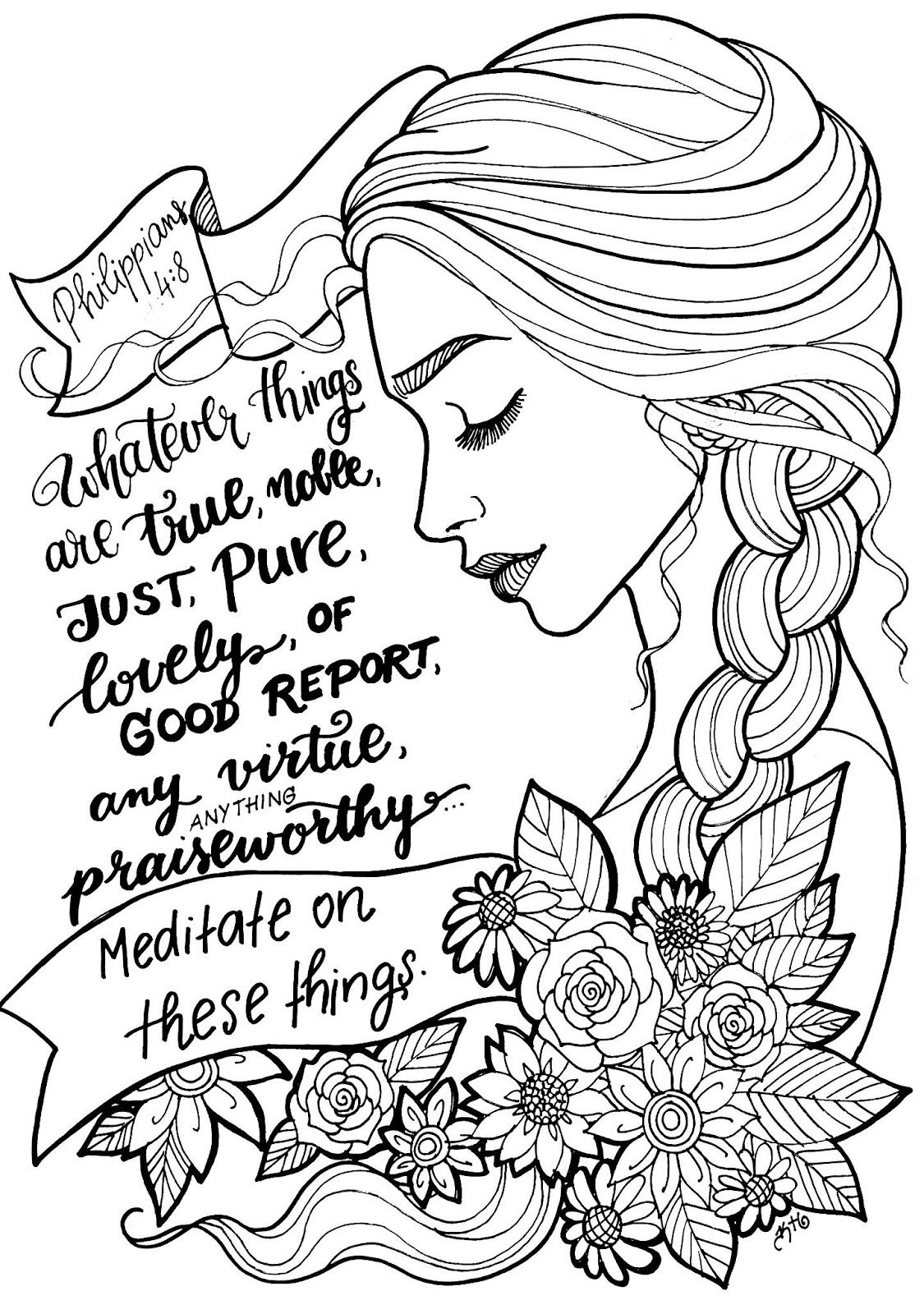 Free coloring page! Beautifully illustrated Bible verse