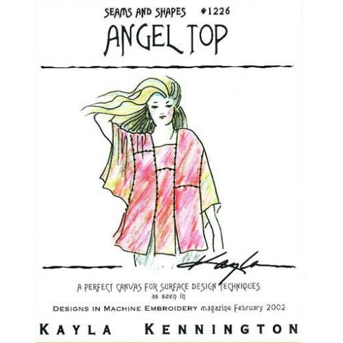 Sale Kayla Kennington S Angel Top Pattern 1226 Modular Design For Couture Artwear Surface Design Techniques Machine Embroidery Designs Surface Design