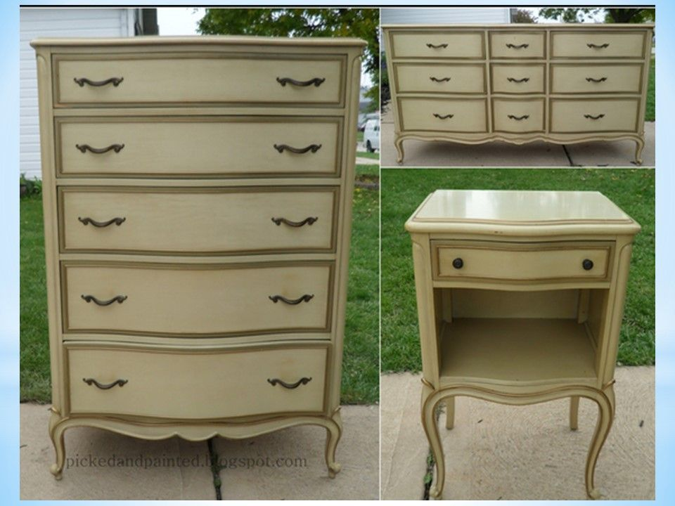 How much time will it take to paint this French Provincial set? - I'm just  starting out in the furniture refurbishing business, and I've got a client  who ... - Painting Laminate Or Formica Tops Of Dressers Paint Techniques