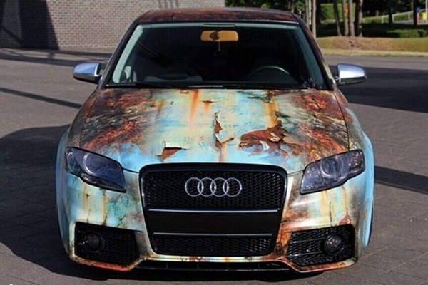 This Faux Rust Wrap With Images Audi Cars Car Wrap Custom Cars