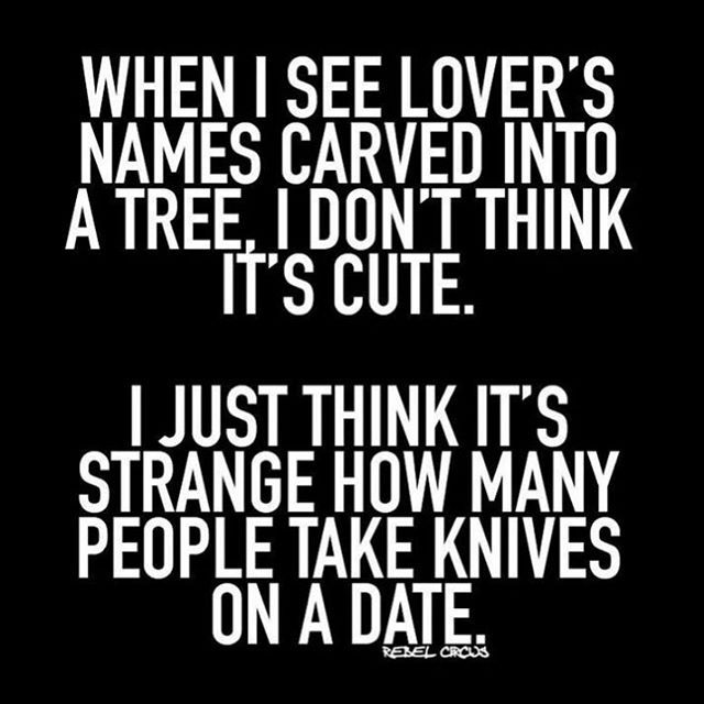 Im the one with the knife. #knifeforlife #thepoleroommaui #valentinesfail