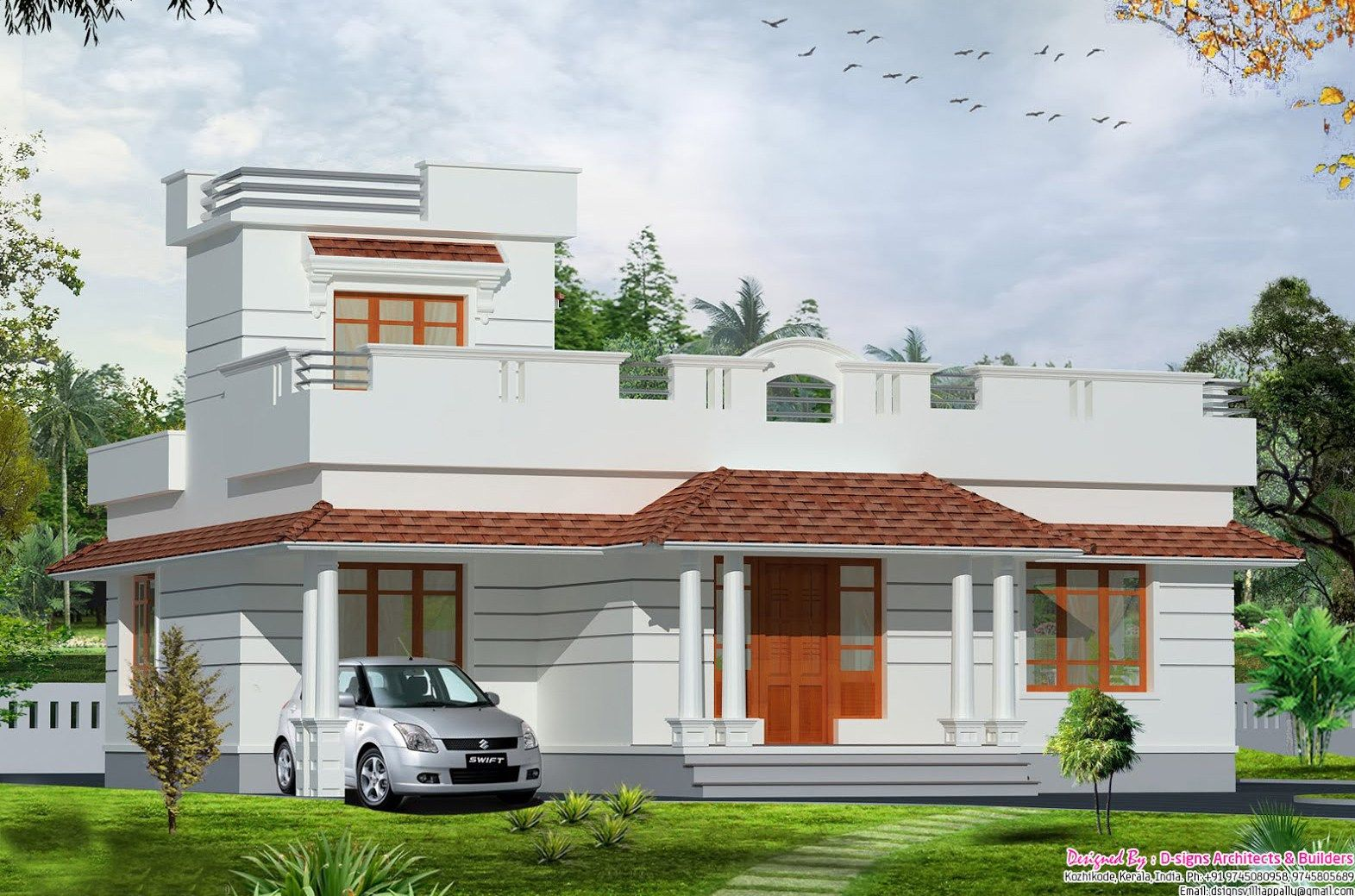 Single floor house designs kerala house planner big house for Big home designs