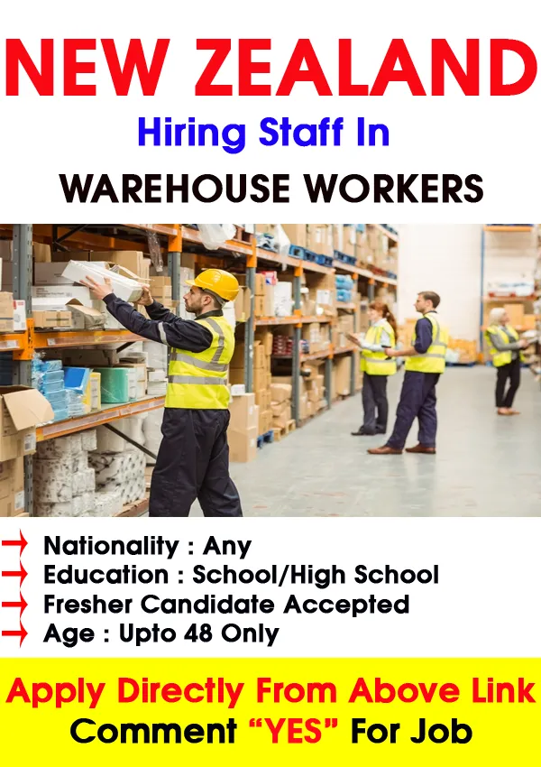 Basic Needs For Warehouse Job Vacancy In New Zealand Each Competitor Applying For Posts At The Top Must Have At Least 1 Yea Warehouse Jobs New Zealand Jobs Job