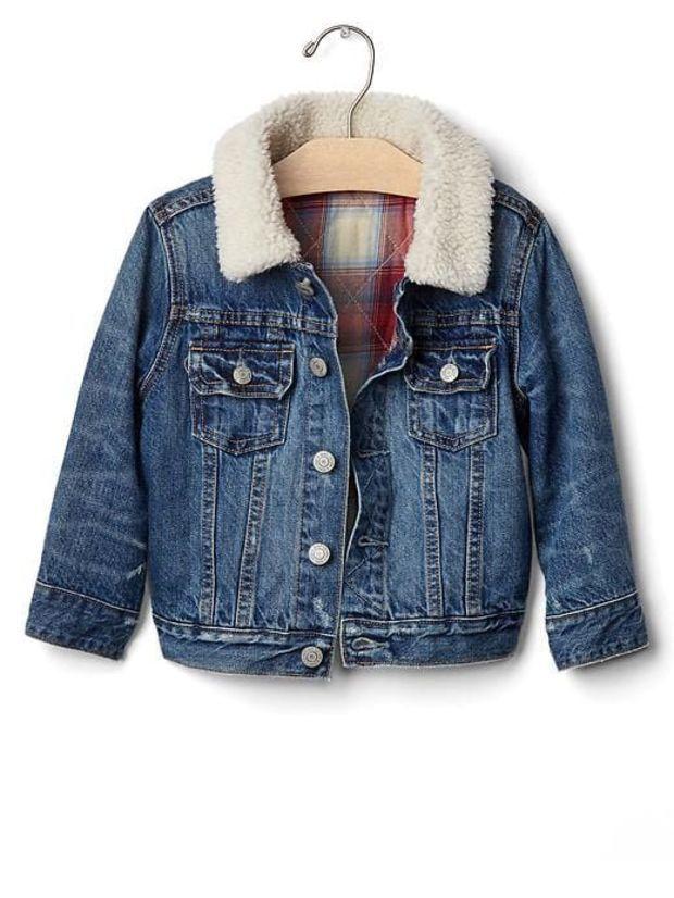 Fall Style Picks For Kids - Cozy Denim Jacket via @gap