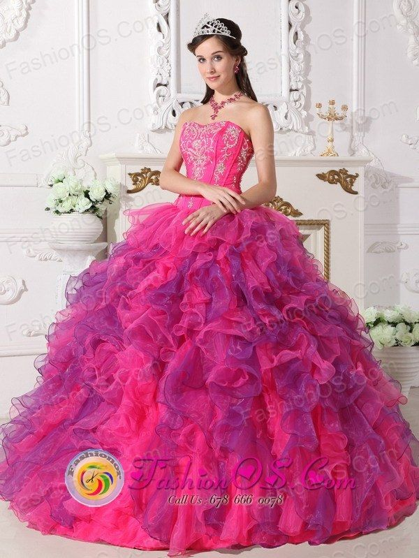 quince dresses | Organza Wholesale Multi-color 2013 Quinceanera Dress Sweetheart ...