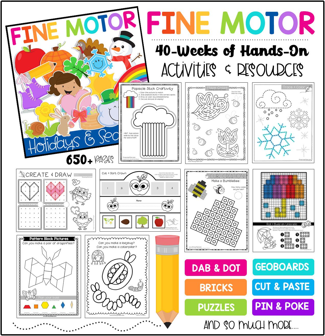 Fine Motor Skills Holiday Amp Seasons Bundle
