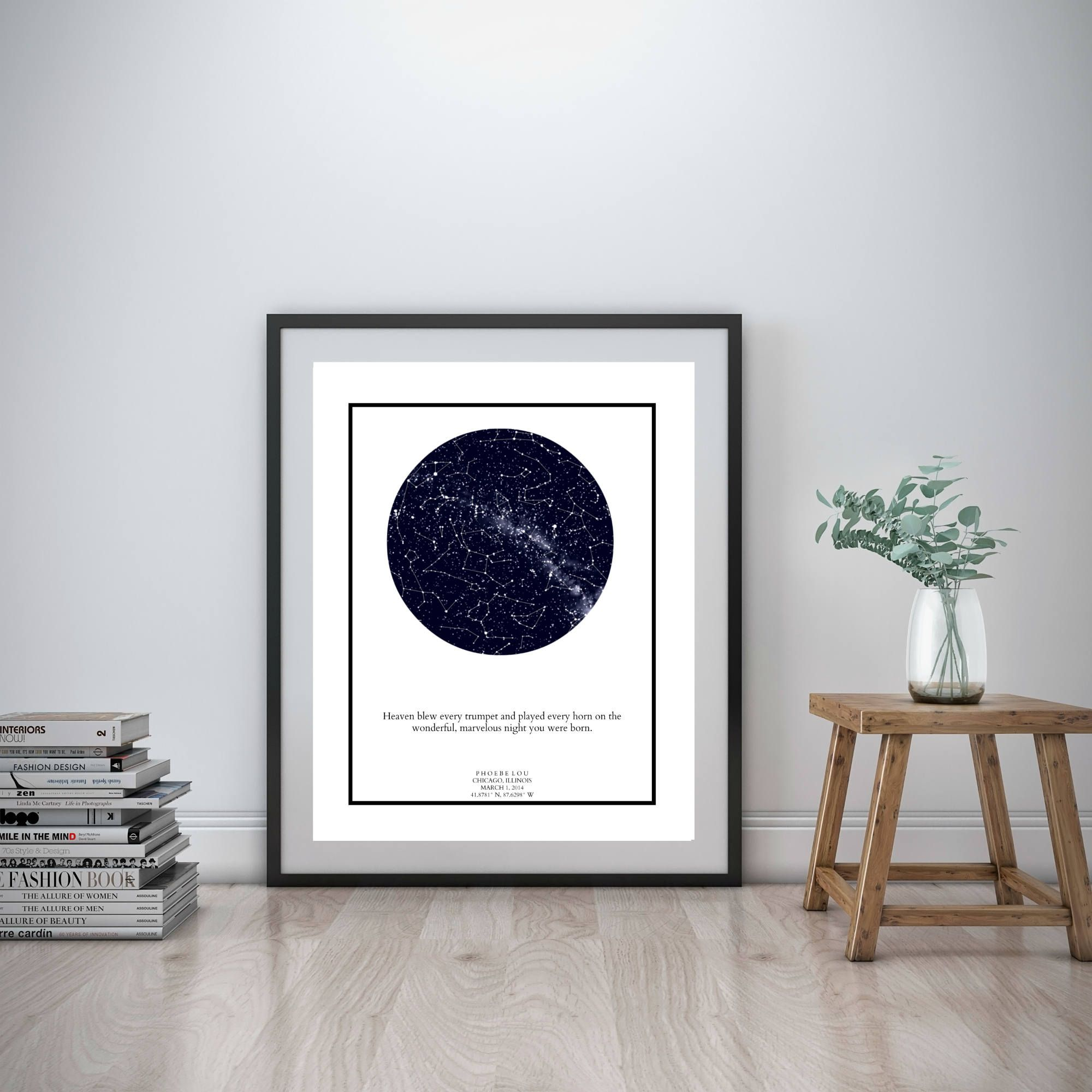 Custom Star Map Personalized Star Map Star And Constellation Print Personalized Nursery Art Personalized Wedding Gift Anniversary Gift Cumpleanos Cardo
