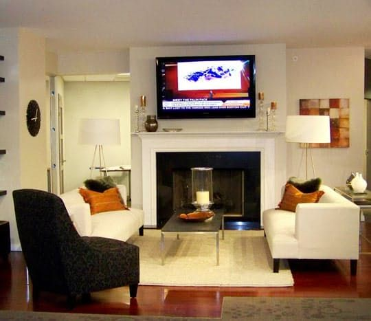 The Home Theater Mistake We Keep Seeing Over And Over Again Living Room Furniture Arrangement Tv Over Fireplace Tv Above Fireplace