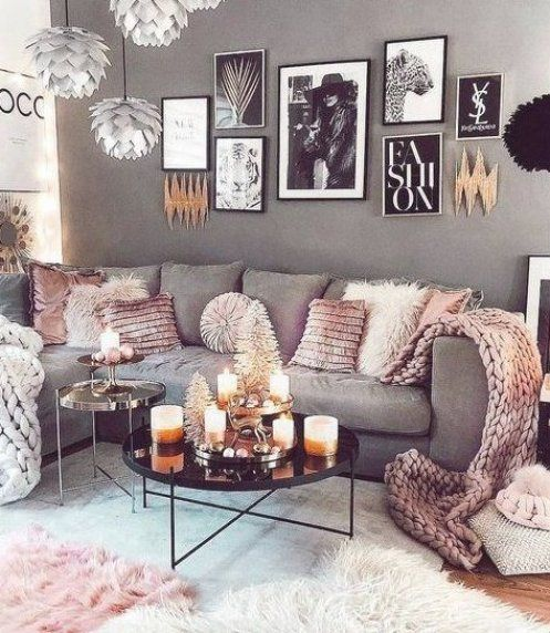 Scandinavian ideas  gray living room  cozy living room decorations  modern w  #Decoration #homedecor #homedesign #homeideas