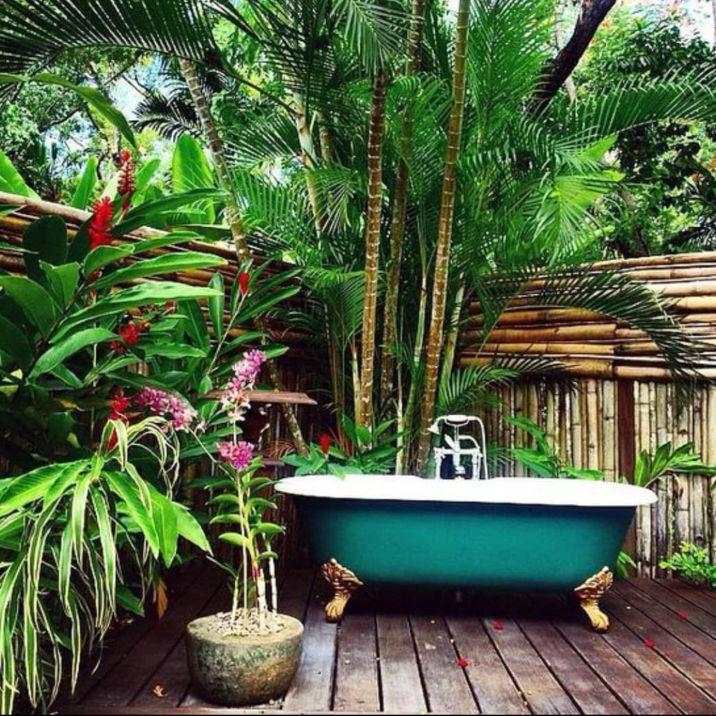 Who Wouldn't Love A Soak In This Beautiful Outdoor Tub?
