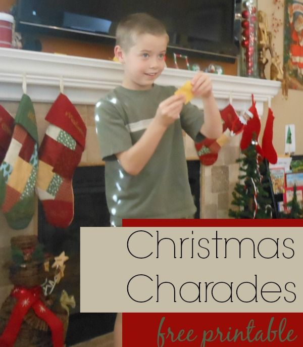 Christmas Family Party Games: Christmas Charades For Kids