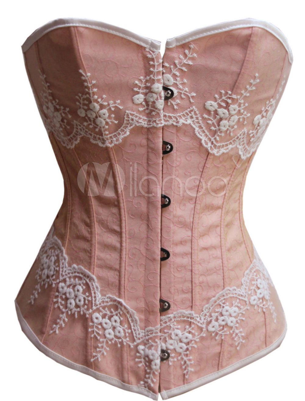 747b63c8eba Victorian Boned Corsets With Lace Trim in 2019