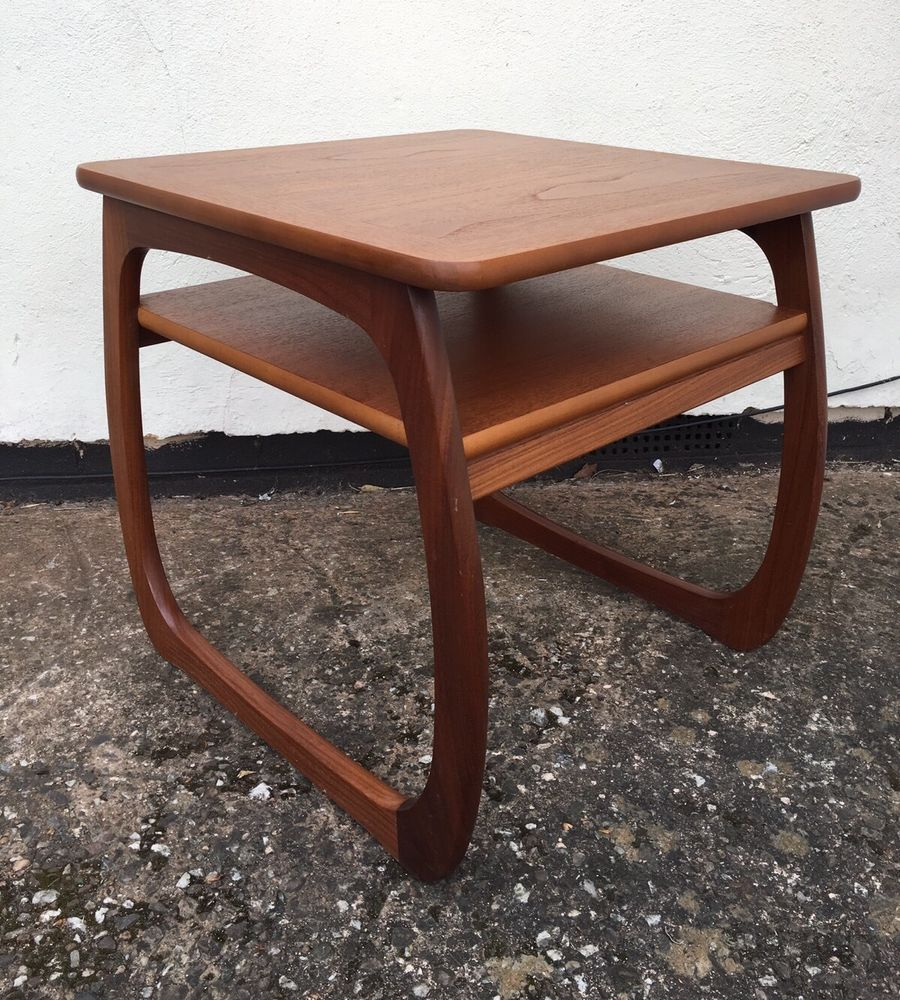 Vintage Teak Stylish Coffee Table With Shelf By Parker ...