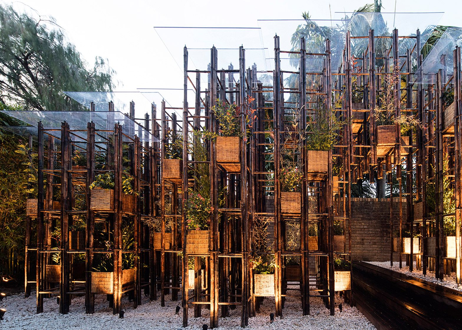 vo trong nghia to build bamboo pavilion for fugitive