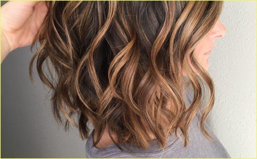 Mittellange Haare Braun Balayage Schulterlange Haare Braun