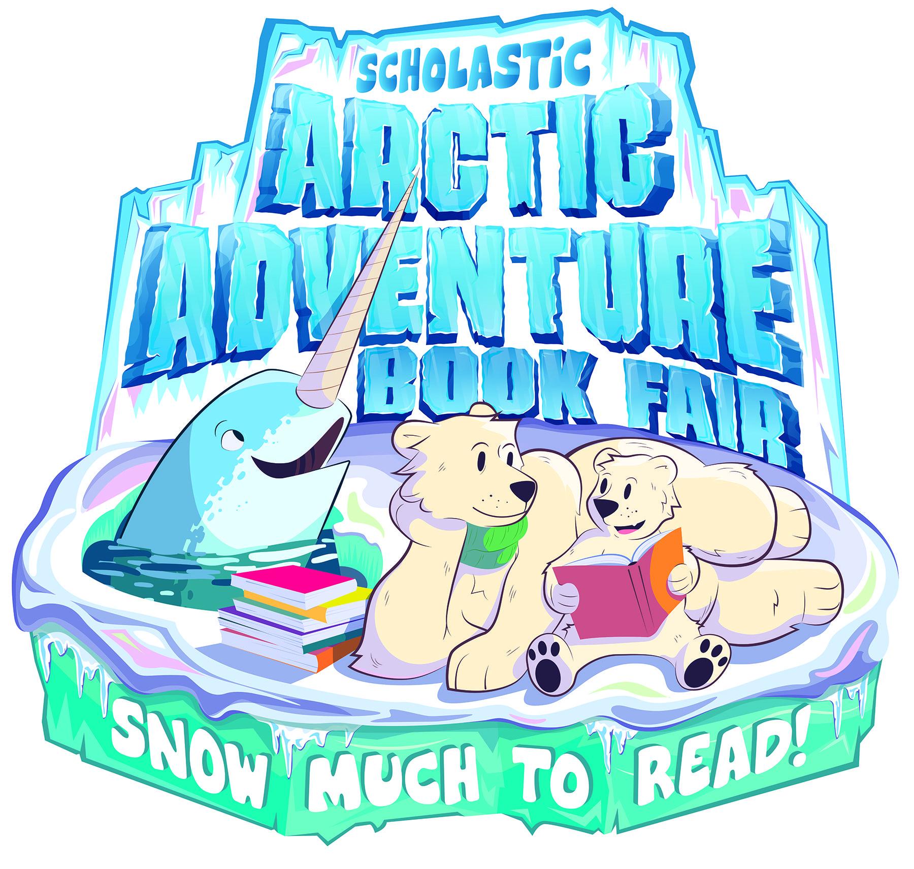 logo for the arctic adventure book fair Scholastic book