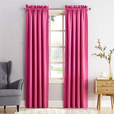 Sun Zero Kylee Energy Efficient Rod Pocket Curtain Panel Pink