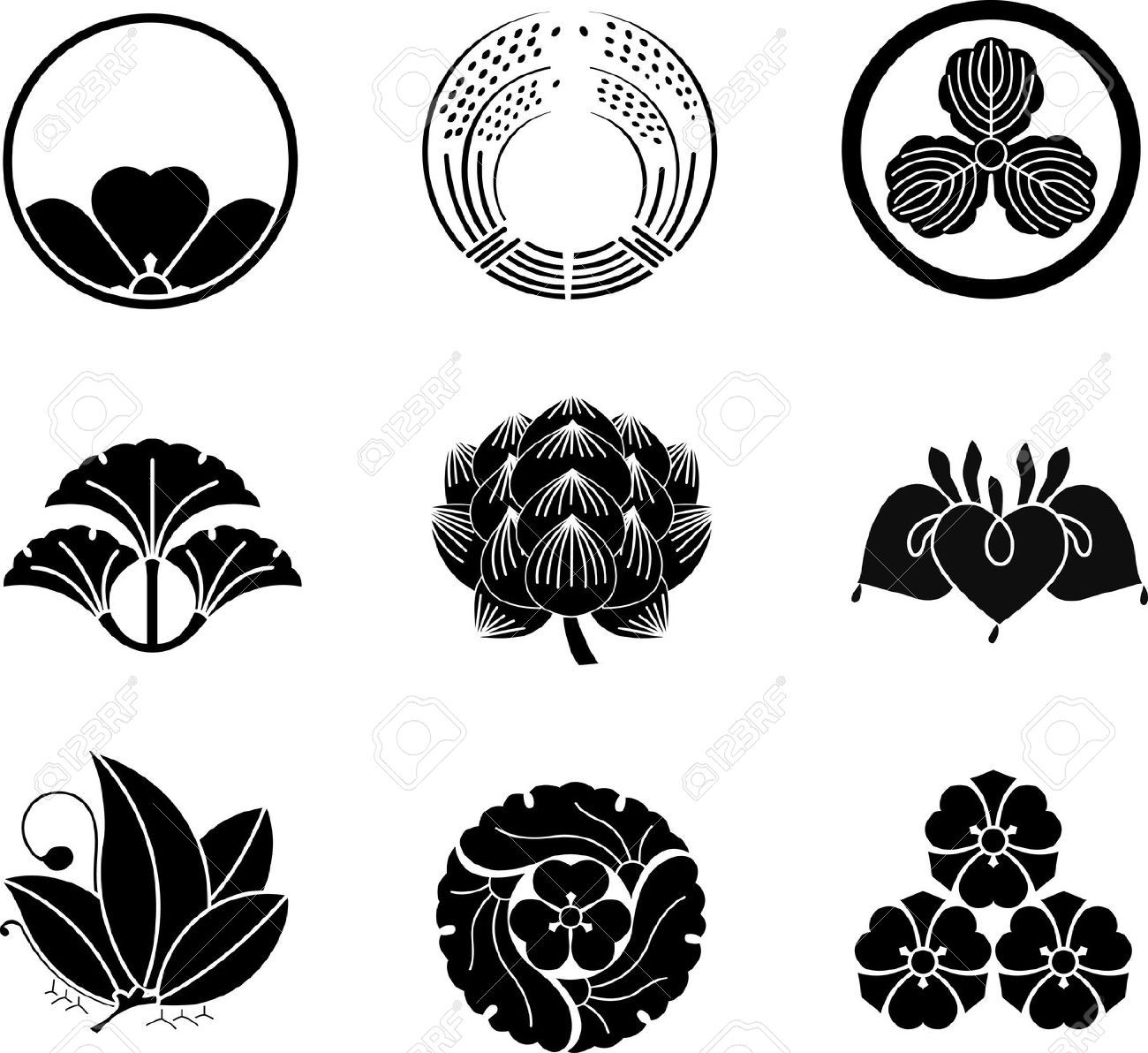 Japanese Lotus Flower Google Search Art Japanese Family Crest