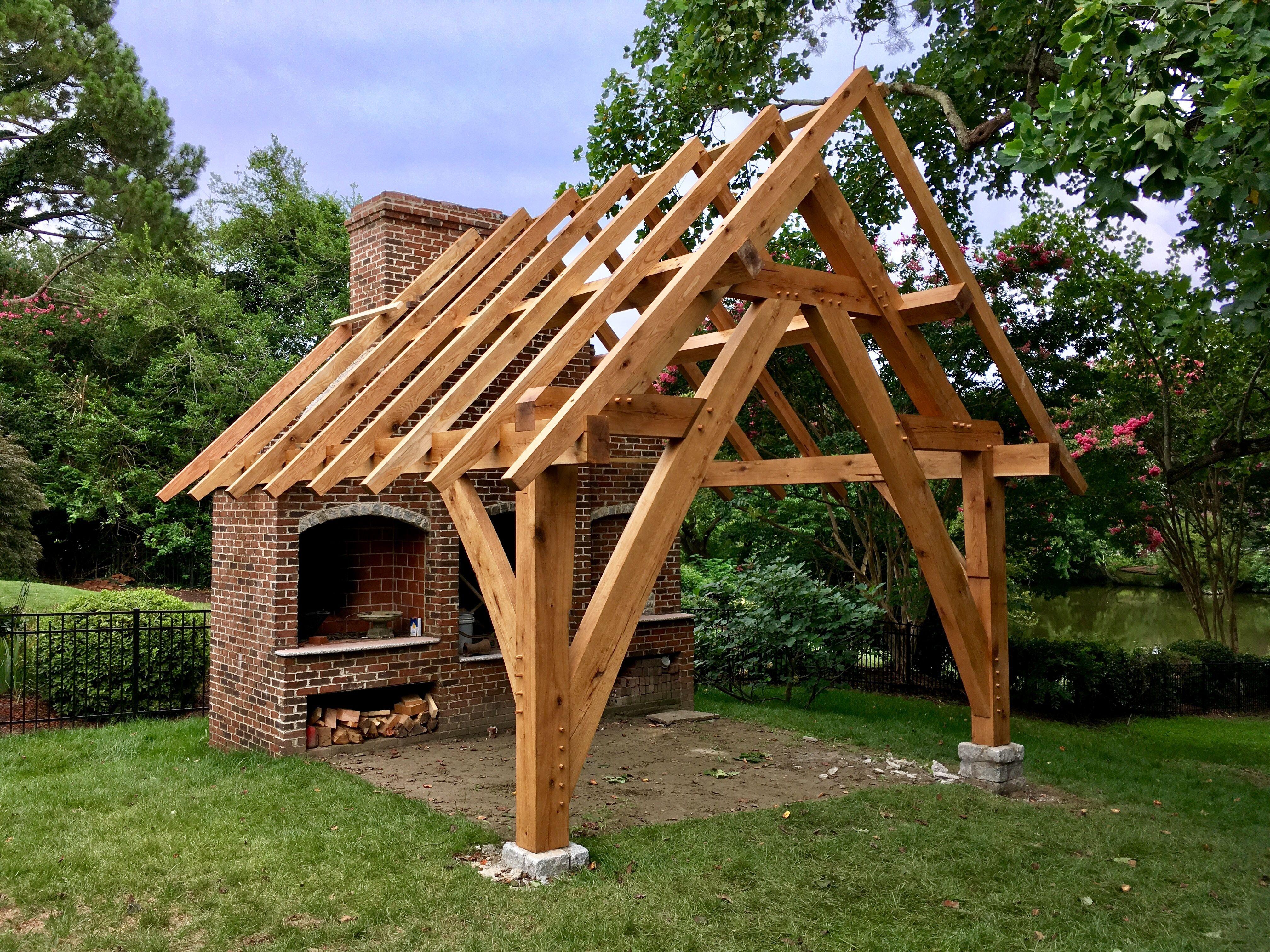 Portfolio In 2020 Timber Frame Joinery Timber Framing Backyard Pavilion