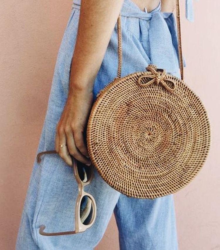 5653763d1 Tendência de bolsas para o verão 2019 | Bolsa | Bolsa de palha, Look ...