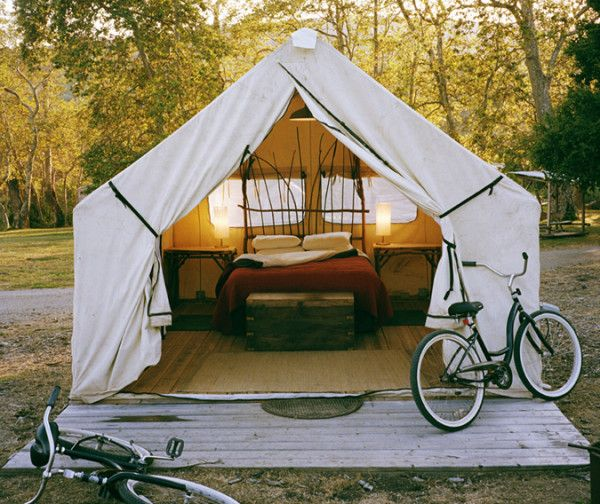 The canvas wall tent used by outdoor enthusiasts for hundreds of years can be turned into more than a tent with the simple addition of a wooden platform. & The canvas wall tent used by outdoor enthusiasts for hundreds of ...