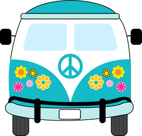 hippy party clip art peace love hippie chicks pinterest rh pinterest ca hippie van clipart hippie van clipart