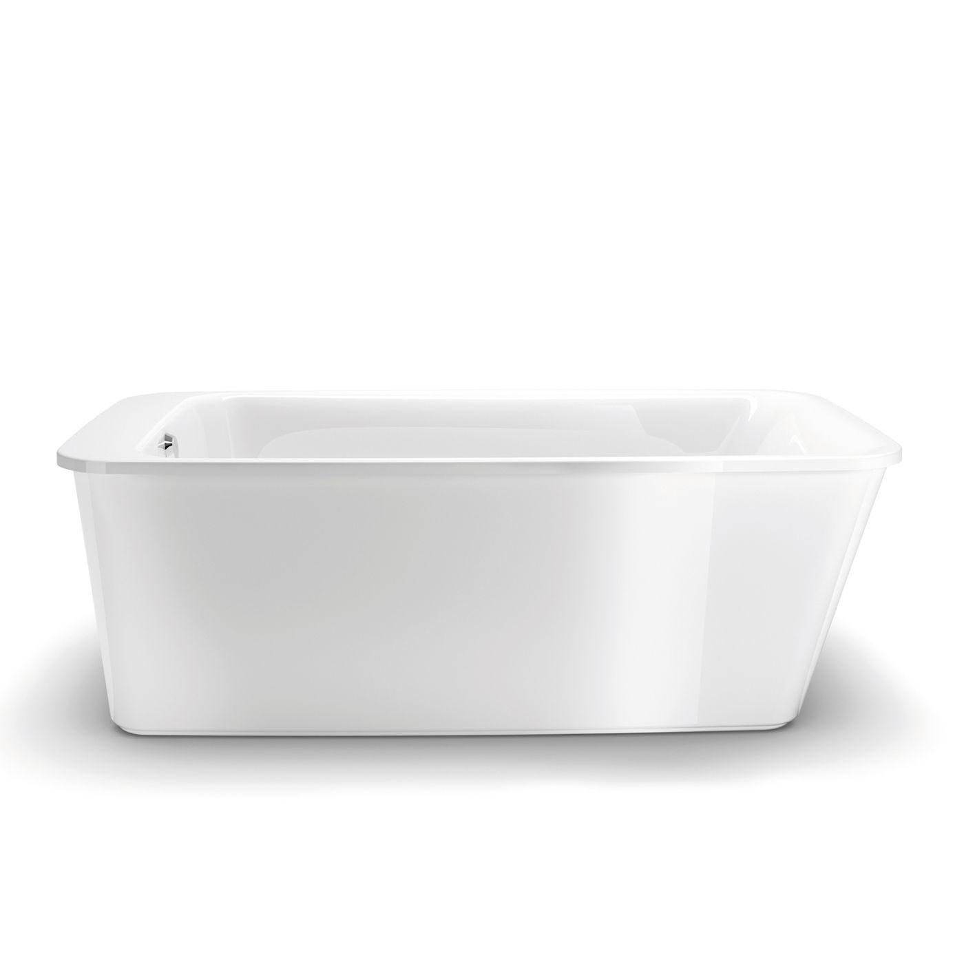 Shop Maax 105798-000-001-10 Lounge Freestanding Soaking Bathtub ...
