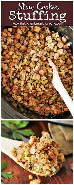 Slow Cooker Stuffing {or Dressing ... or whatever you call it!}