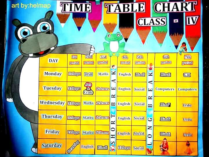 Time table chart art by helmap paper charts school ideas also  rh pinterest