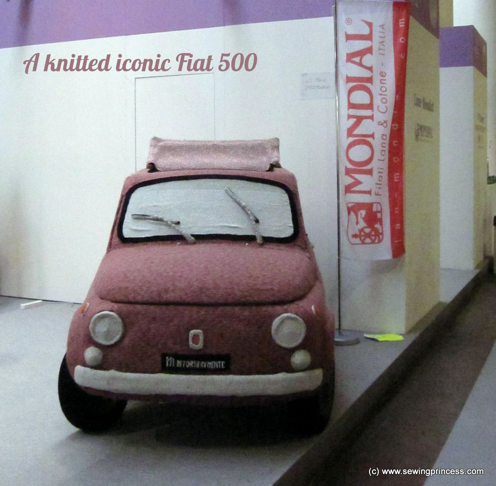 Knitted Fiat 500