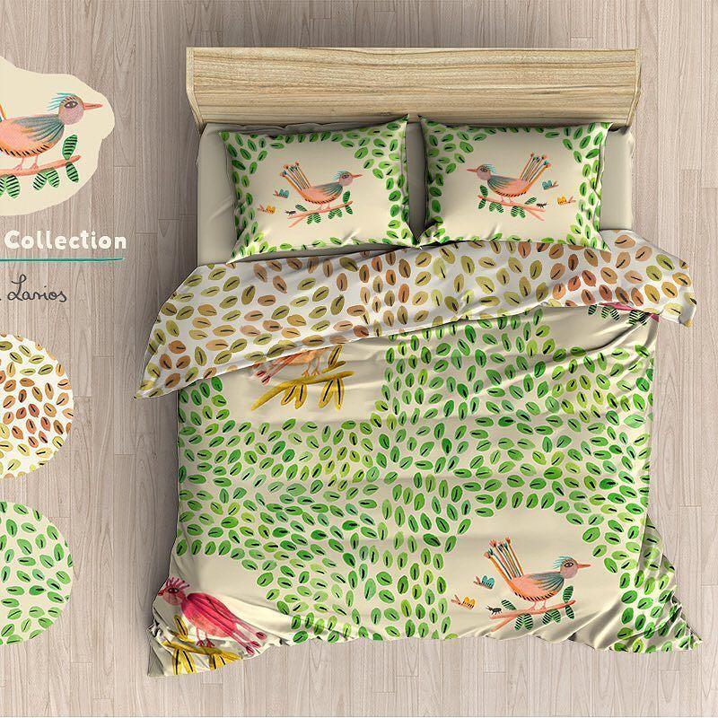 Birdsong Bed Linen #bedding #textiles #bedlinen #homewares #homedecor #patterns #interiors