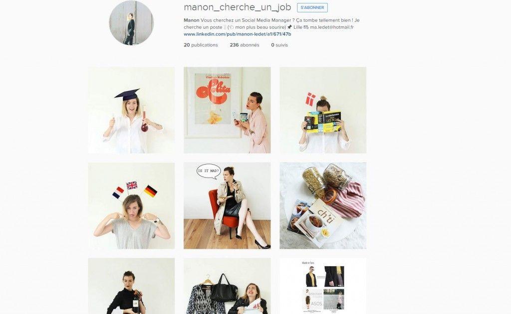 fan des r u00e9seaux sociaux   un cv version instagram