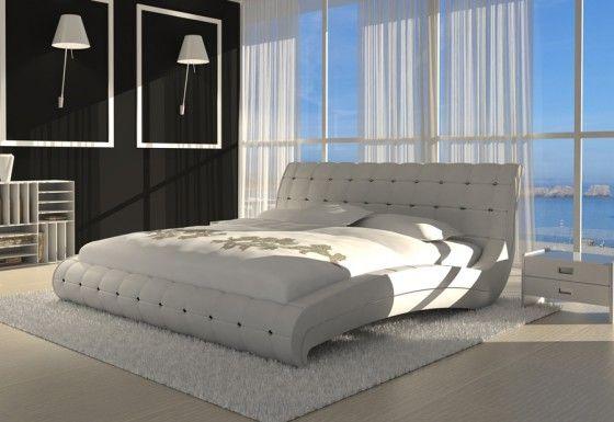 SAM® Polsterbett 180 x 200 cm Ziersteine Weiß VEDERI