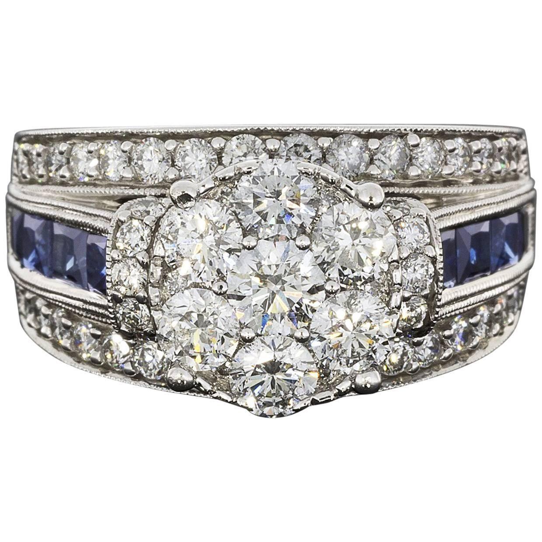 45++ Sapphire wedding bands white gold ideas