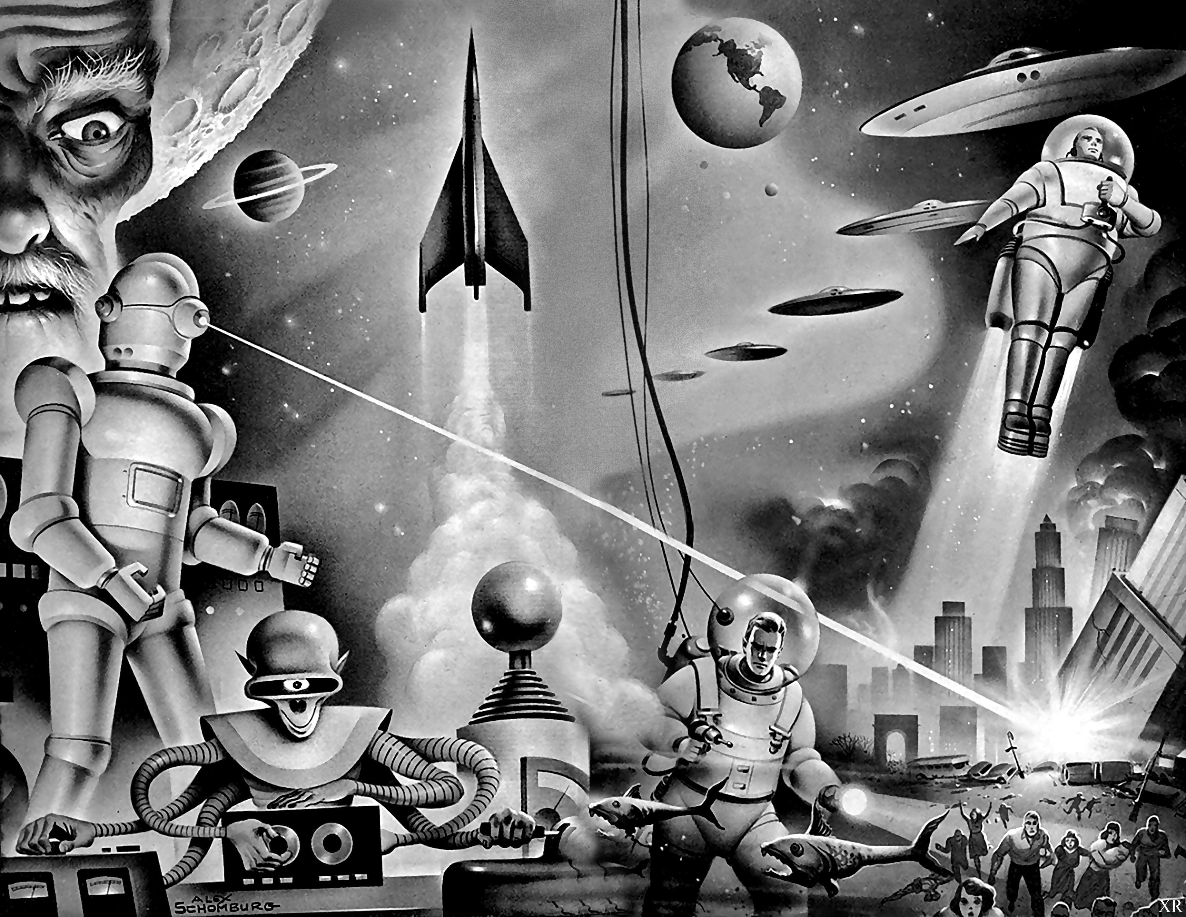 Retro Sci Fi Gal by JWilsonIllustration on DeviantArt