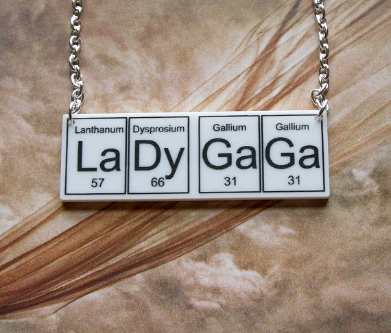 Lady gaga necklace periodic table inspired jewelery 2200 items similar to lady gaga necklace periodic table inspired jewelery on etsy urtaz Choice Image