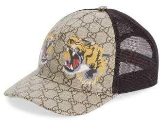 1e2751042189b Gucci Tiger Logo Print Baseball Cap  Gucci  cap ShopStyle  MyShopStyle  click link for more information