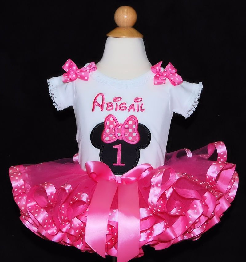 Minnie Mouse First Birthday Tutu Outfit 2 Pieces Minnie