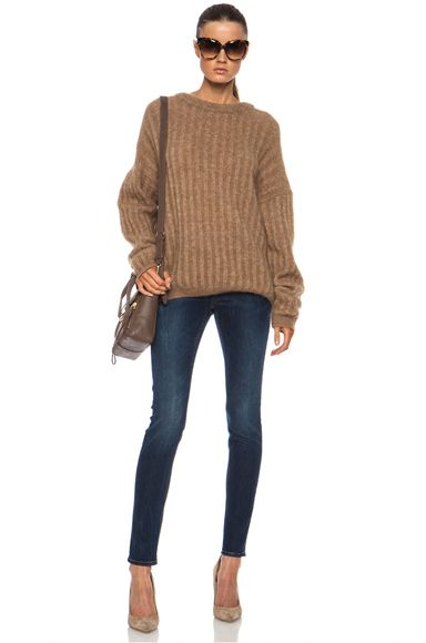 ACNE - Dramatic Mohair-Blend Sweater in Camel