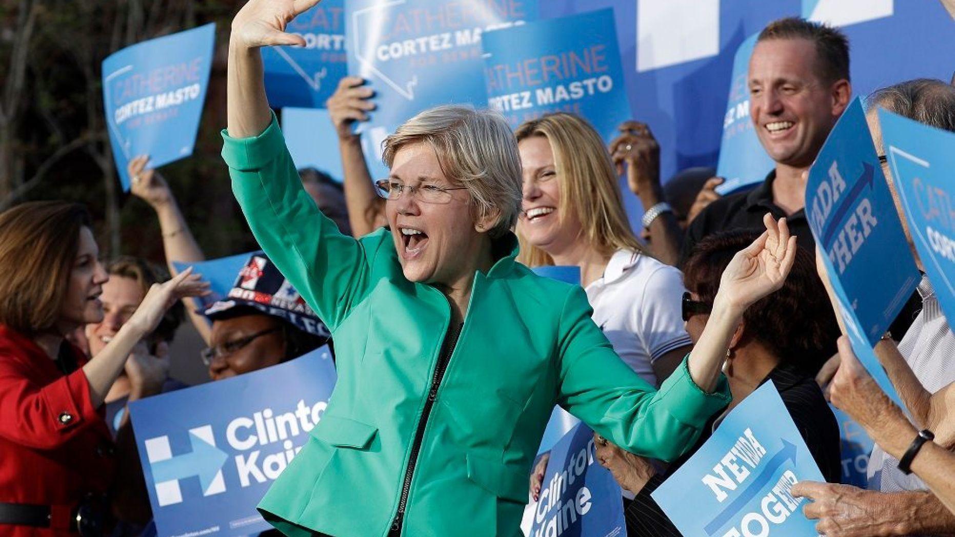Elizabeth Warren heckled at campaign stop 'Why
