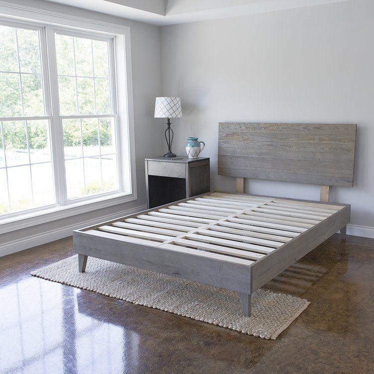 Alayna Industrial Platform Bed Decoracion De Dormitorio Para