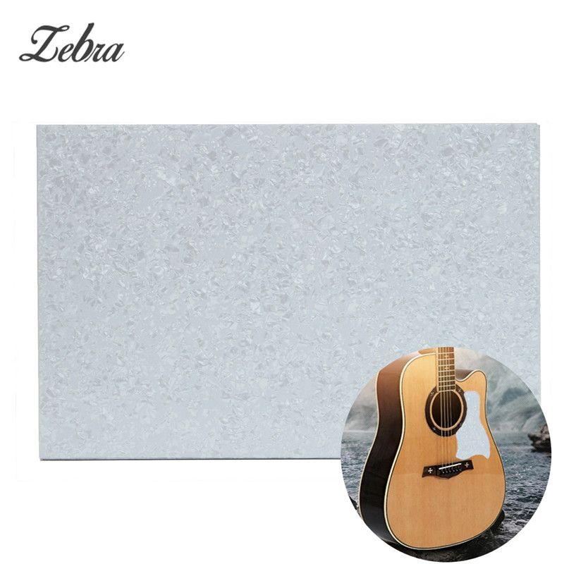 3 Ply Guitar Bass Pickguard Blank Plate Sheet Pearl White