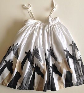 3faed8cdbbd3 Old Navy Giraffe Dress Sz 3T Zoo Trip Lined 100 Cotton Toddler Girl s  Sundress