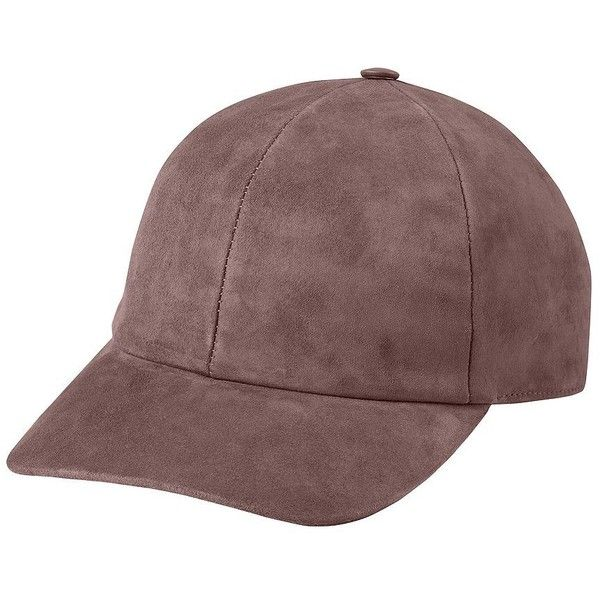 Vianel Women s Suede Baseball Cap (4.955 ARS) ❤ liked on Polyvore featuring  accessories 60f3fa15887
