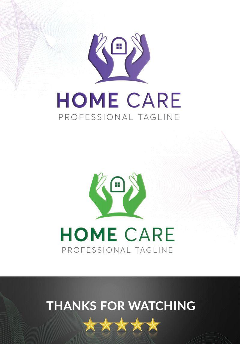 Homecare logo template 97319 in 2020 logo templates