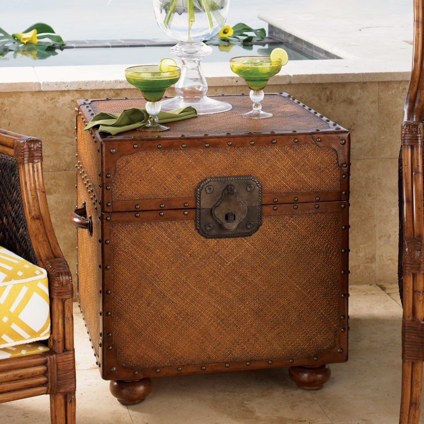 tommy bahama island estate east cove square wood trunk 01 0531 955 rh za pinterest com Tommy Bahama Coffee Table Tommy Bahama Oval End Tables