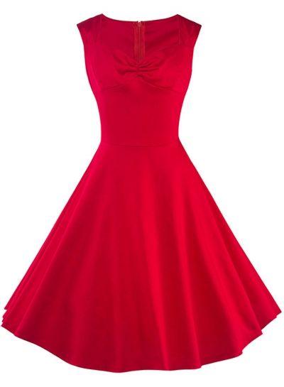 Vintage Sleeveless Party Swing Dress AZBRO.com